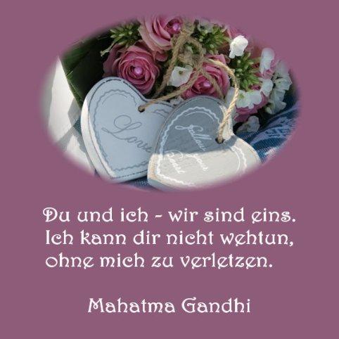 Heiraten Hochzeit - Spruch der Woche - Mahatma Ghandi