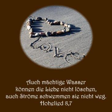 Heiraten Hochzeit Bibelvers der Woche Hohelied 8,77