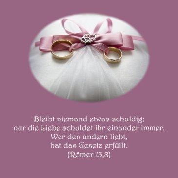 Heiraten Hochzeit Bibelvers Römer13,8